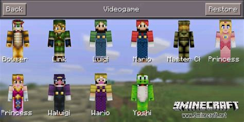 More Skin Packs Mod for MCPE - 9Minecraft