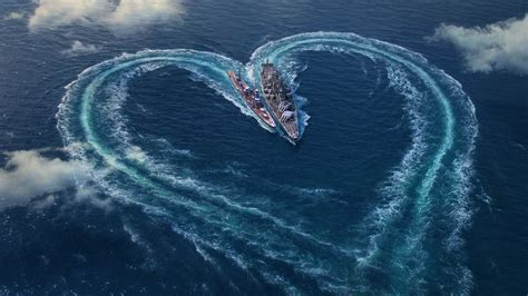 World of Warships Valentines Day Special Wallpapers   HD
