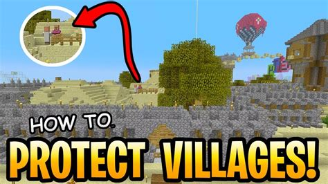 Minecraft How To Protect Your Villages Tutorial! Village