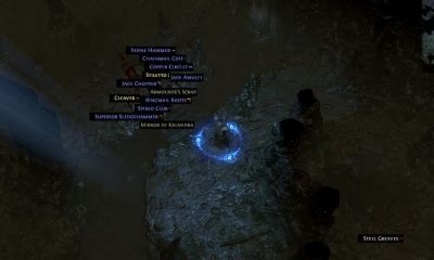 A list of Path of exile Crucial Vendor Recipes that