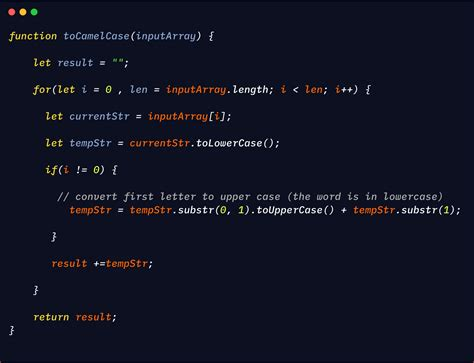 Converting a string to camelCase in Javascript | by