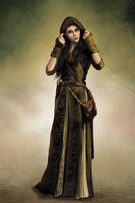 Traveling priestess of Peraine from the dark eye by