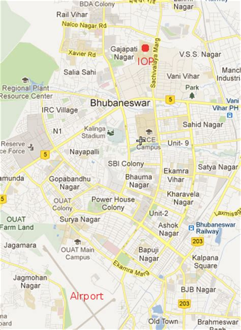 IOPB Map for Visitors :: Institute of Physics, Bhubaneswar