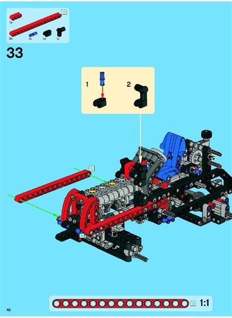 LEGO Tractor with trailer Instructions 8063, Technic