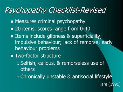 PPT - Psychopathy PowerPoint Presentation, free download